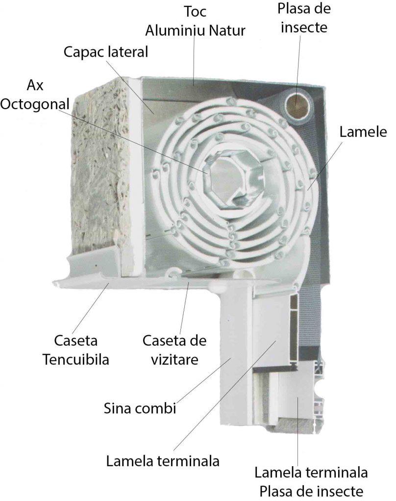 sectiune_rulou_aplicat_aluminiu_tencuibil_cu_plasa_de_insecte